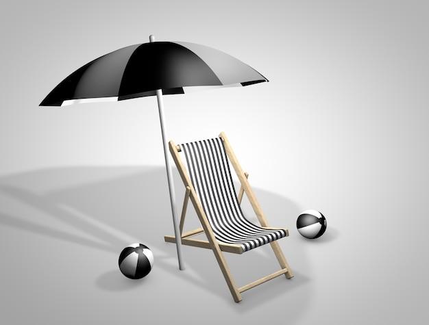 3d krzesło plażowe