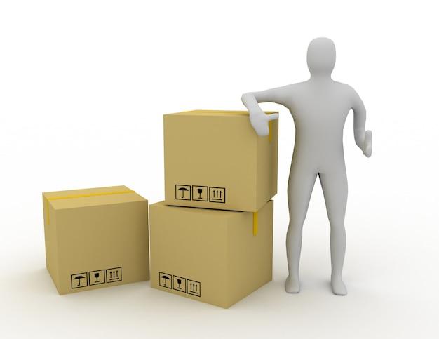 3d ludzki pakiet wysyłkowy