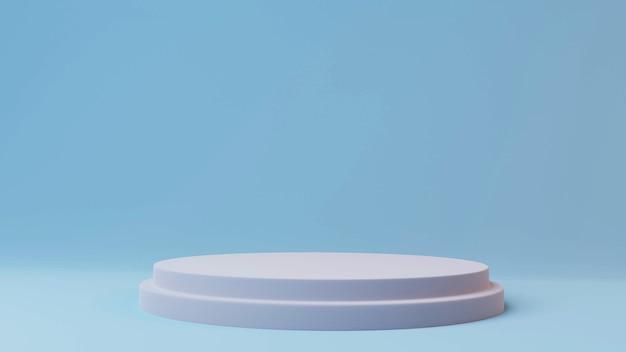 3d makieta cokół wyświetlacza platformy ze stojakiem na podium na tle jasnego pokoju. renderowanie 3d