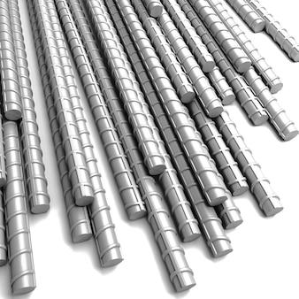 3d metalowy pręt zbrojeniowy