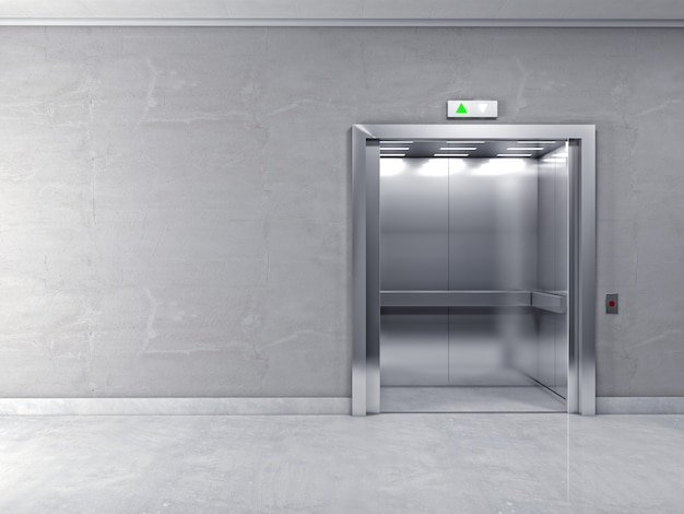 3d nowoczesna winda