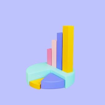 3d obiekt infografiki renderowany na białym tle ilustracja