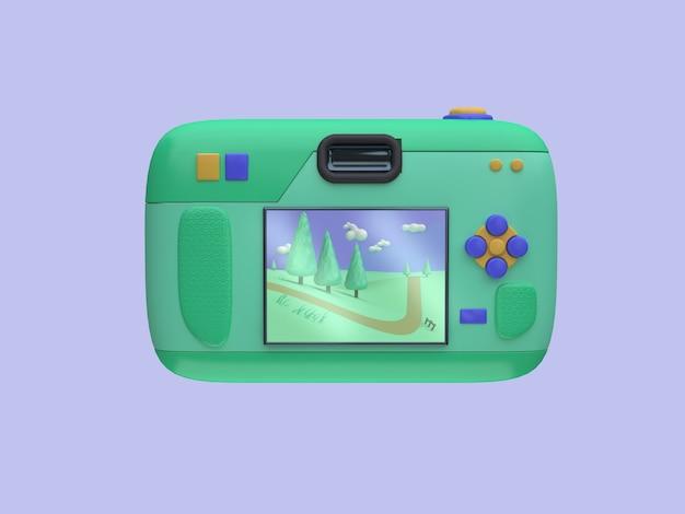 3d obraz z tyłu kamery stylu cartoon pokaż zdjęcie natura krajobraz 3d rendering