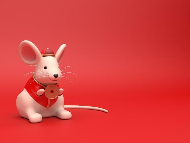 3d odpłacają się chiński szczur dla świętują chińskiego nowego roku