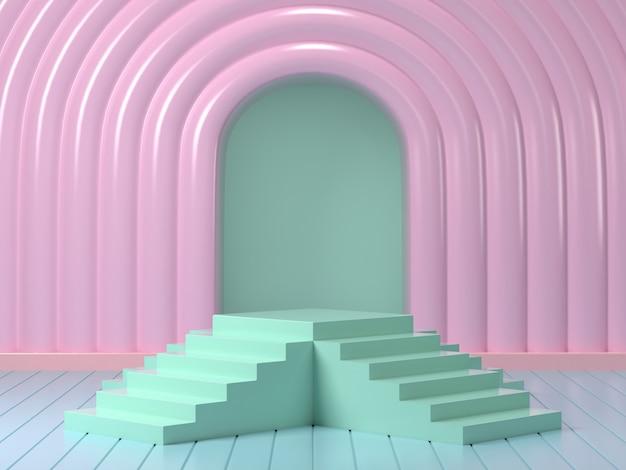 3d odpłacają się egzamin próbny w górę podium abstrakcjonistycznego pastelowego podium
