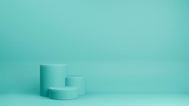 3d odpłacają się minimalny stylowy podium lub piedestał na pastelowym tle. abstrakcjonistyczny pojęcie.