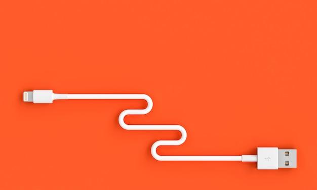 3d odpłacają się wizerunek usb kabel