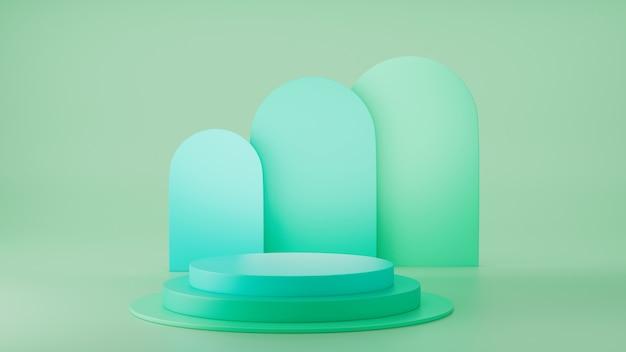 3d odpłacają się zieloną butli podium pokazu produktu gablotę wystawową