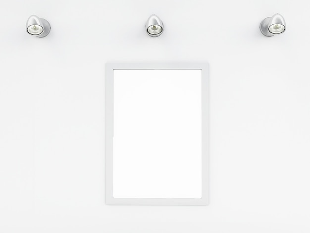3d opróżnij ramowy szablon z miejscem dla twój teksta i projekta