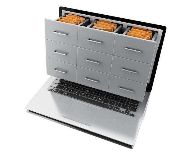 3d pliki i foldery w laptopie