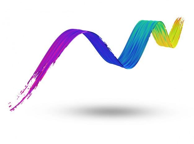 3d płynący obrys farby