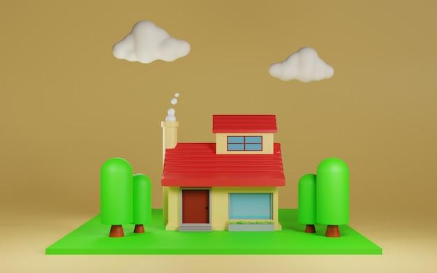 3d projekt ilustracji domu