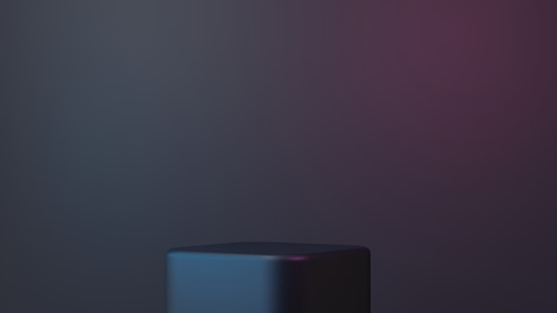 3d proste eleganckie podium na czarnym tle