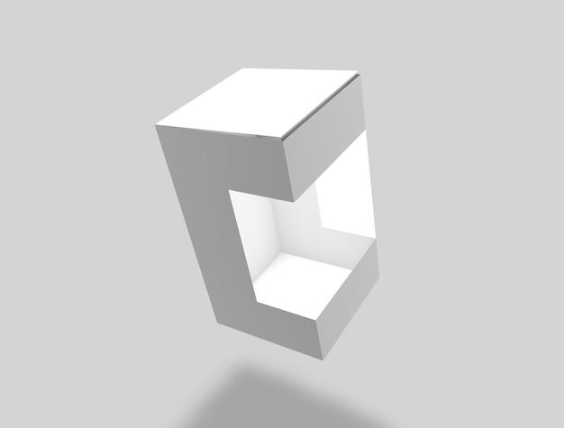 3d pudełkowaty mockup