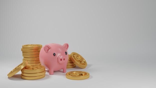 3d realistyczna odpłaca się pieniężną ilustrację