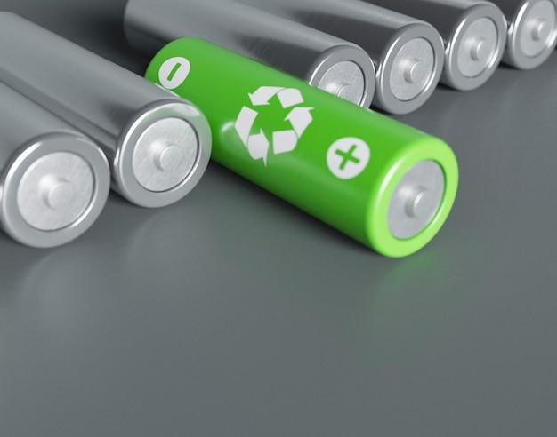 3d recykling baterii