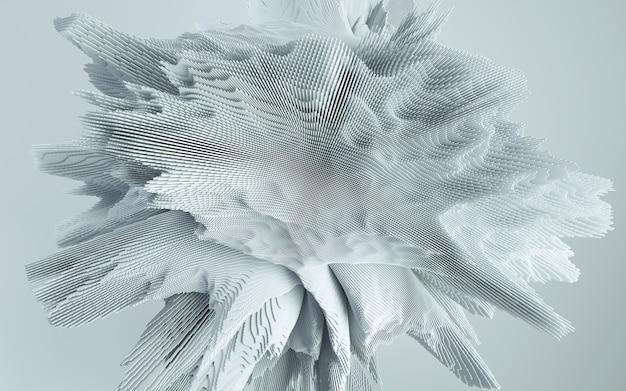 3d render abstrakcyjnego kształtu deatailed. dynamiczne futurystyczne tło.