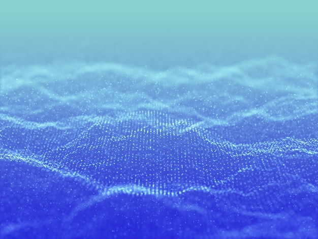 3d render abstrakcyjnego tła z projektem cyber cząstek