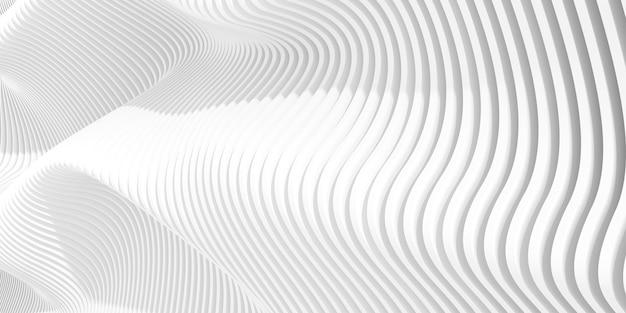 3d render abstrakcyjnego wzoru parametrycznego.