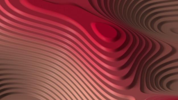 3d render abstrakcyjnej powierzchni topo. pokrojona, wyglądająca na gładką geometrię cuve.