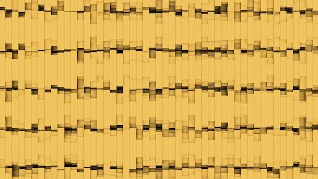 3d render abstrakcyjny wzór tła wiele złotych obiektów