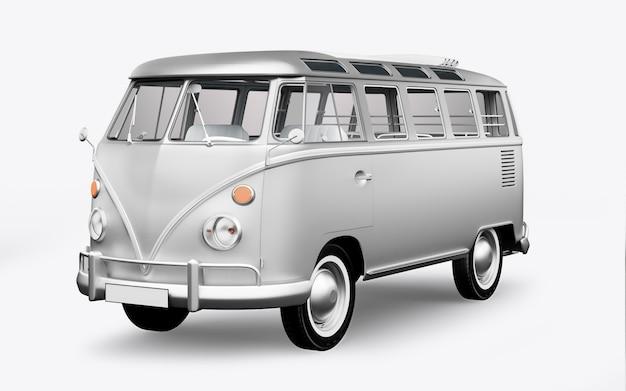 3d render autobus hippie