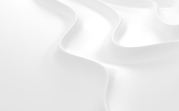 3d render biały abstrakcyjny wzór.