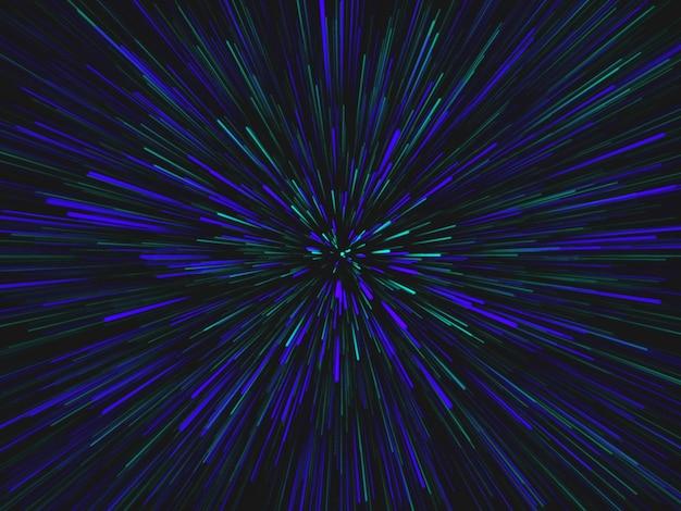 3d render efektu tunelu kosmicznego warp