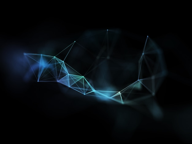 3d render futurystycznego projektu nowoczesnej komunikacji sieciowej