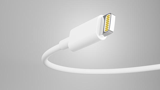 3d render kabla ładującego do wyświetlania produktu
