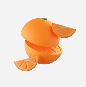 3d render pomarańczowy twórca sceny