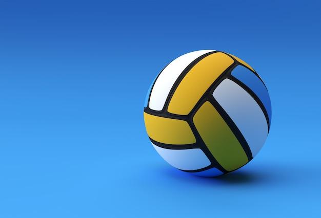 3d render siatkówka ilustracja siatkówka / żółta piłka do siatkówki.