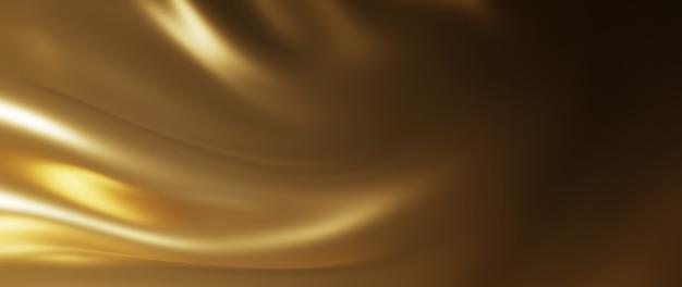 3d render tkaniny ciemne i złote. opalizująca folia holograficzna. streszczenie sztuka moda tło.