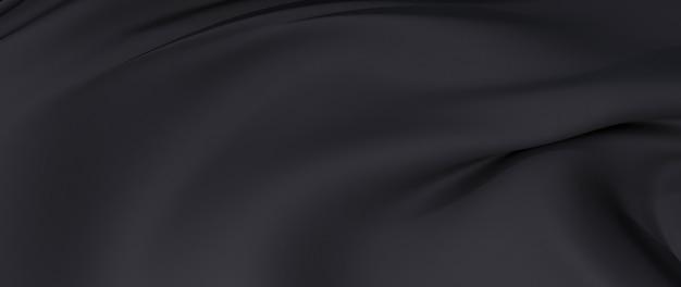 3d render z czarnego sukna. opalizująca folia holograficzna. streszczenie moda tło.