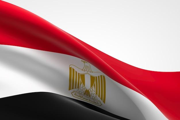 3d render z egipskiej flagi macha.