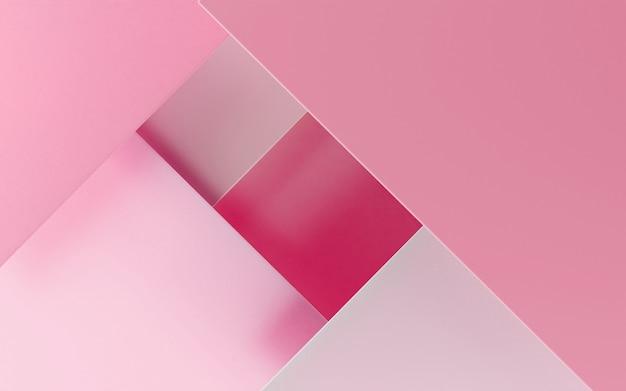 3d render z geometrycznego tła papieru podium papercut