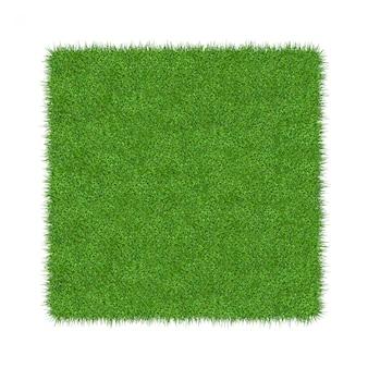 3d render z zielonej trawy. naturalny tekstury tło. świeża wiosna zielona trawa
