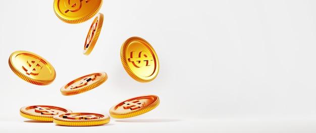 3d render złotych monet. zakupy online i e-commerce w sieci koncepcja biznesowa. bezpieczna transakcja płatności online za pomocą smartfona.