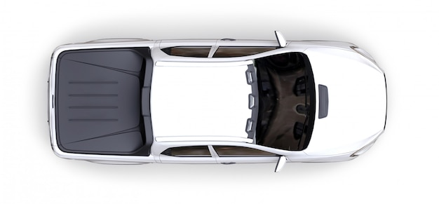 3d rendering biała pojęcie ładunku furgonetka