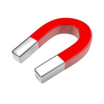 3d rendering czerwony magnes