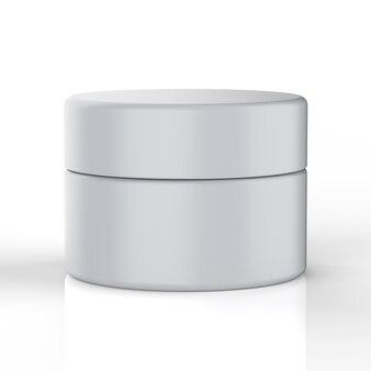 3d rendering kosmetyczny garnek lub pojemnik z nakrętką