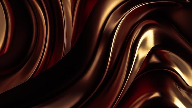 3d rendering luksusowy tło z złocistą draperii tkaniną