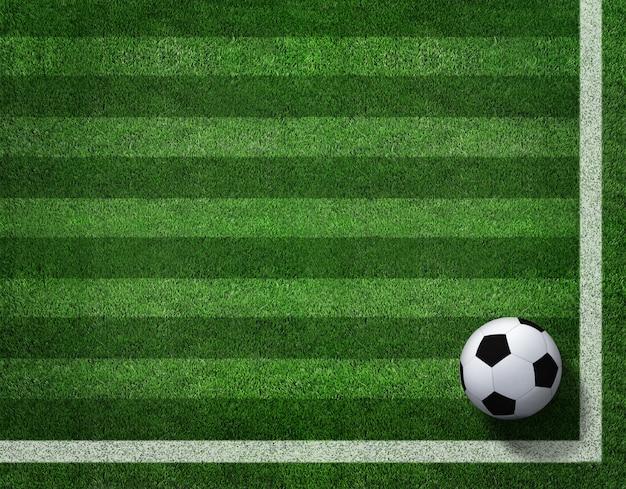 3d rendering piłka nożna z linią na boisko do piłki nożnej.