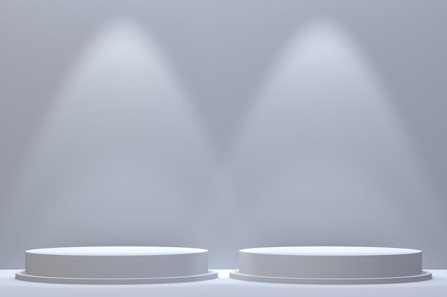 3d rendering, podium minimalne streszczenie tło do prezentacji produktów kosmetycznych, streszczenie geometryczny kształt