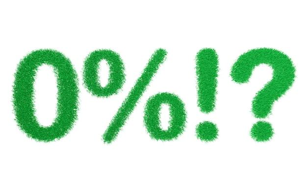 3d rendering sumbol alfabetu zielonej trawie na białym tle na białej powierzchni