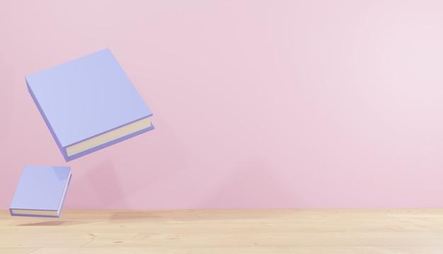 3d renderingi tła duże ilustracje książkowe do lekcji na strony internetowe motyw szkolny