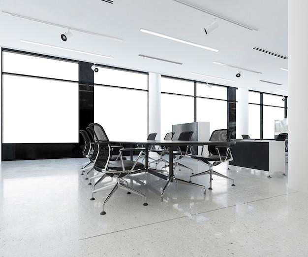 3d renderingu biznesowy pokój konferencyjny na budynku biurowym