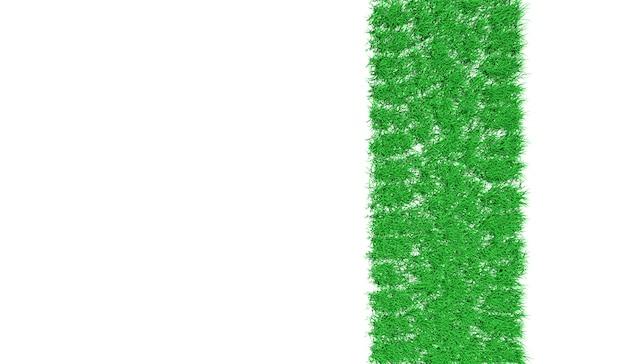 3d renderingu ślad samochód zakrywający z zieloną trawą