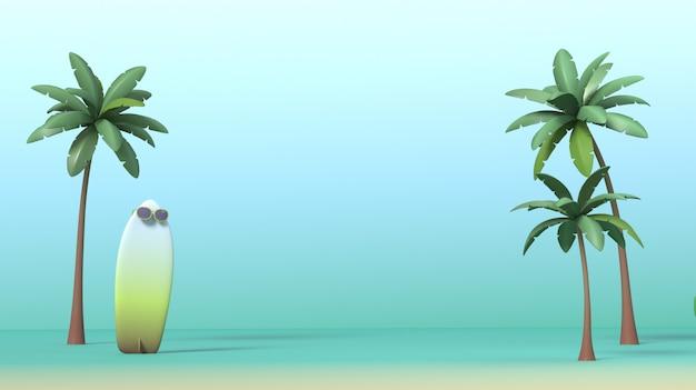 3d renderingu wizerunek lato, wakacje, relaksuje