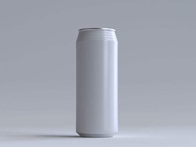 3d renderowana puszka po napoju bez etykiety